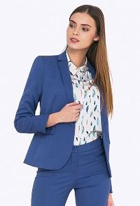 Женский синий пиджак на одной пуговице Emka ML548/grace