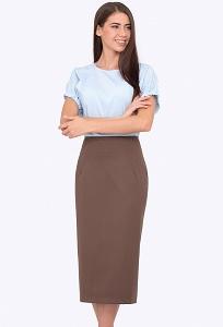 Облегающая юбка-карандаш коричневого цвета Emka 501/clara