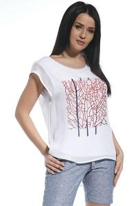 Летняя двухслойная блузка с принтом Ennywear 250207
