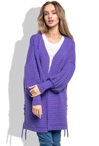 Свободный кардиган фиолетового цвета Fimfi I260