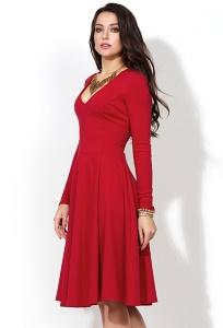 Красное трикотажное платье Donna Saggia DSP-216-29t