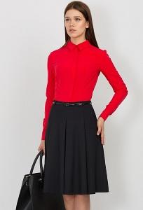 Юбка из фактурной чёрное ткани Emka Fashion 568-miralda