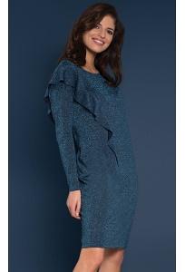 Трикотажное платье с люрексом Zaps Tago