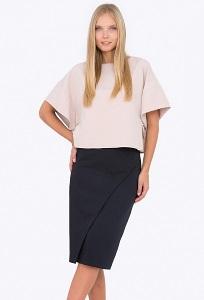 о-синяя юбка с запАхом Emka Fashion 676/modesta