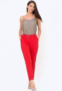 Женские брюки красного цвета Emka D-031/ataliya