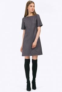 Короткое платье с мелким геометрическим принтом Emka PL800/aisa