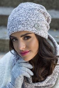 Меланжевая шапка Kamea Enrica