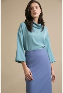 Синяя юбка Emka S629/vance