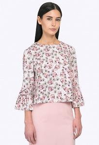 Летняя блузка с плиссированными рукавами Emka B2295/eldana