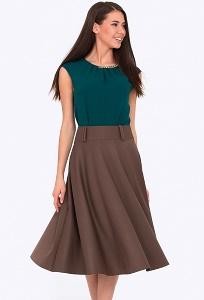 Коричневая юбка Emka 505/clara (коллекция 2017)