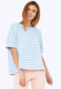 Блузка в стиле Casual А-силуэта в полоску Emka b 2217/leila