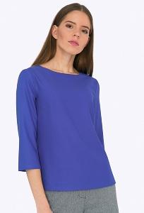 Блузка прямого кроя василькового цвета Emka B2204/tiana