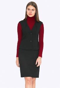 Чёрная юбка из коллекции 2018 года Emka 686-1/binazir