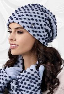 Женская шапка синих оттенков Kamea Grosseto