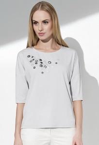 Светло-серая летняя блузка Sunwear I58-4-49