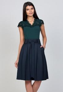 Тёмно-синяя юбка-колокол Emka Fashion 247-kirsten
