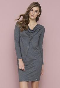 Трикотажное платье серого цвета Zaps Sandra