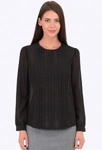 Чёрная блузка Emka Fashion b 2173/filareta