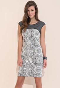 Нарядное платье из двух тканей Zaps Paulina