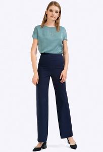 Темно-синие брюки макси с кокеткой Emka D147/camilla
