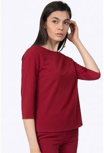 Блузка насыщенного бордового цвета Emka B2204/matilda
