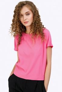 Блузка-бочонок розового цвета Emka B2378/cristall