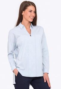 Женская блузка свободного кроя с V-образным вырезом Emka b 2222/erlin