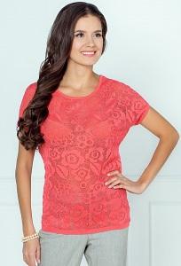 Коралловая блузка Andorvers 206629