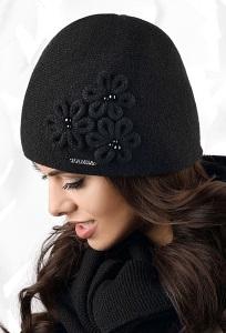 Женская шапка по голове чёрного цвета Kamea Corato