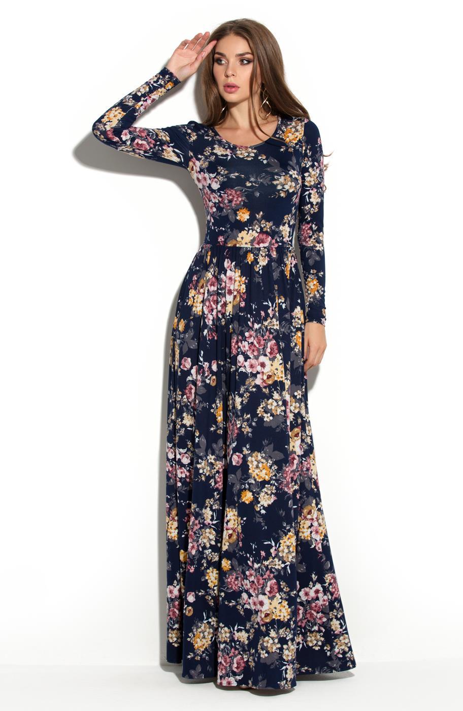 Длинные платья в пол с рукавами 2017