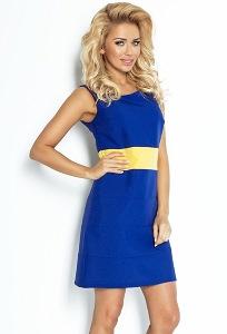 Летнее сине-жёлтое платье Numoco 102-2