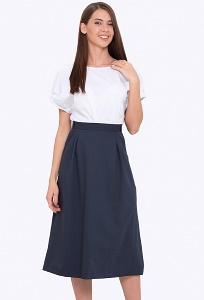 Тёмно-синяя юбка А-силуэта Emka 694-75/meit