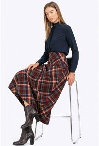 Длинная юбка в контрастную крупную клетку Emka S314/avilliano