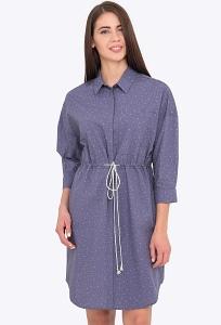 Платье-рубашка с кулиской на лето Emka PL-611/doloriya