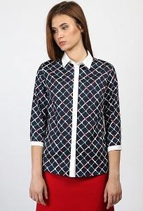 Блузка в ромбик Emka Fashion b 2171/dionisa