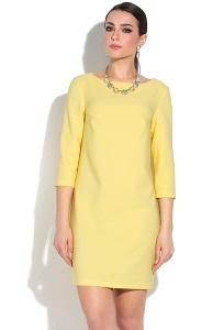 Жёлтое летнее платье с рукавом три четверти Donna Saggia DSP-269-47