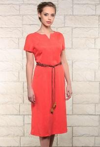 Летнее платье кораллового цвета Issi 171538