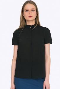 Классическая блузка благородного черного оттенка Emka B2243/tracey