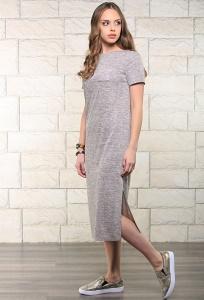 Длинное трикотажное платье Issi 171507