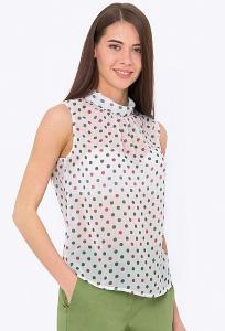 Летняя блузка-американка в горошек Emka b 2161/kiana