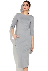 Трикотажное платье в спортивном стиле Donna Saggia DSP-267-72t