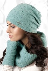Трикотажная шапка бирюзового цвета Kamea Argenta