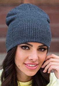 Тёмно-серая молодёжная шапка Kamea Neva