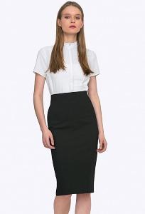 Чёрная юбка с завышенной талией Emka 699/binazir