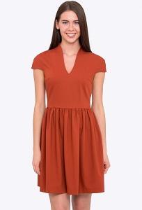 Коктейльное платье терракотового цвета Emka PL-504/azenta