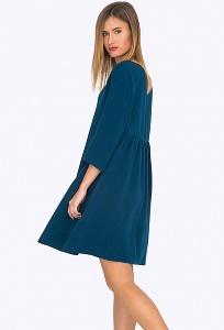 Платье А-силуэта со сборкой на спинке Emka PL765/eleanor