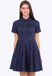 Летнее хлопковое платье Emka Fashion PL-626/lacoste