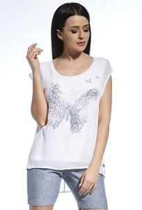Двухслойная блузка с асимметричным низом Ennywear 250208