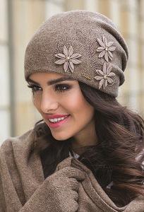 Женская двойная шапка Kamea Lukrecja