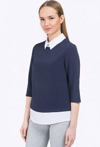 Двухцветная блузка в офисном стиле Emka B2296/camilla